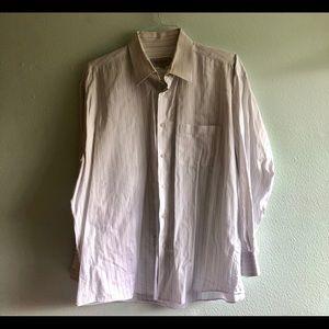 White pinstripe Emmanuel dress shirt. XL